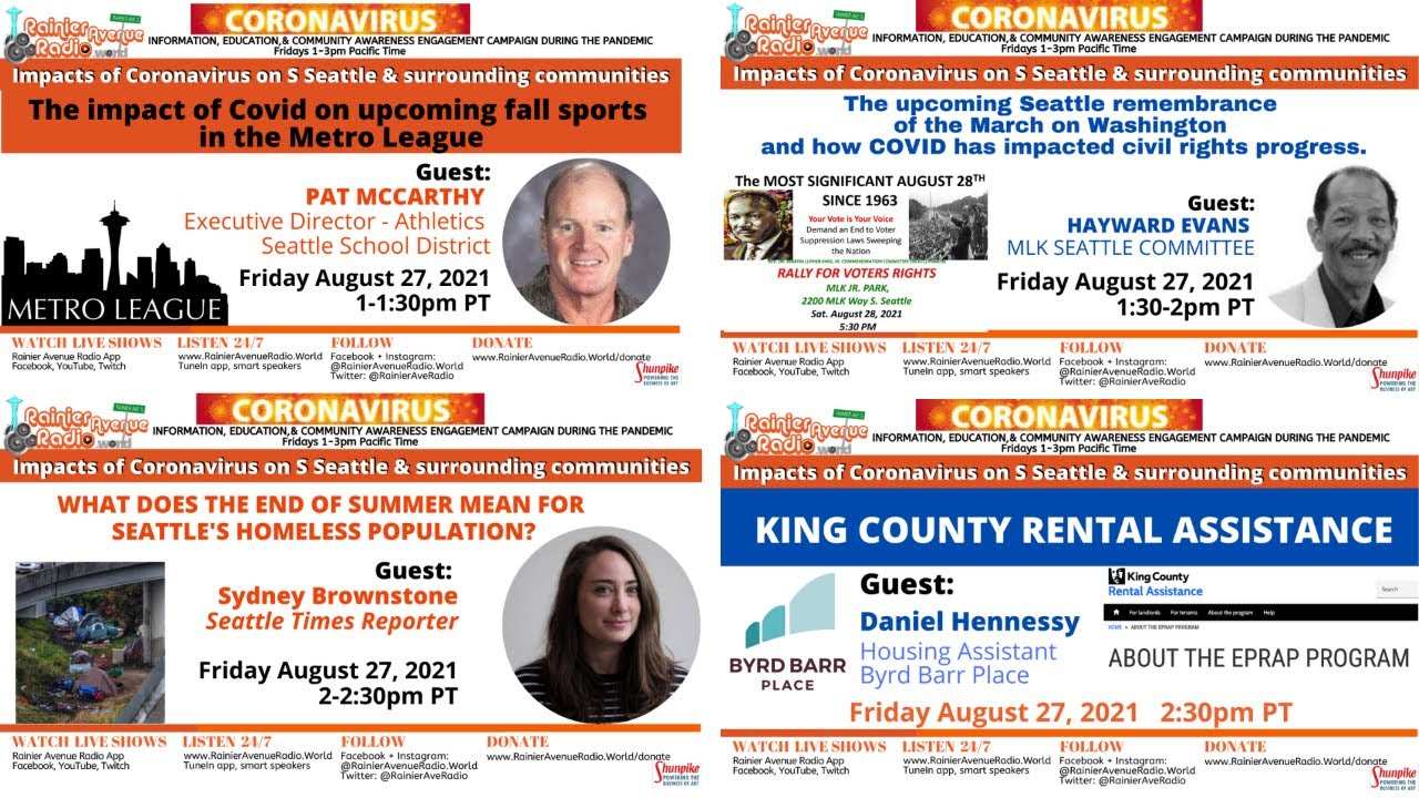 8-27-21 KING COUNTY RENTAL ASSISTANCE on Impacts of Coronavirus LIVE