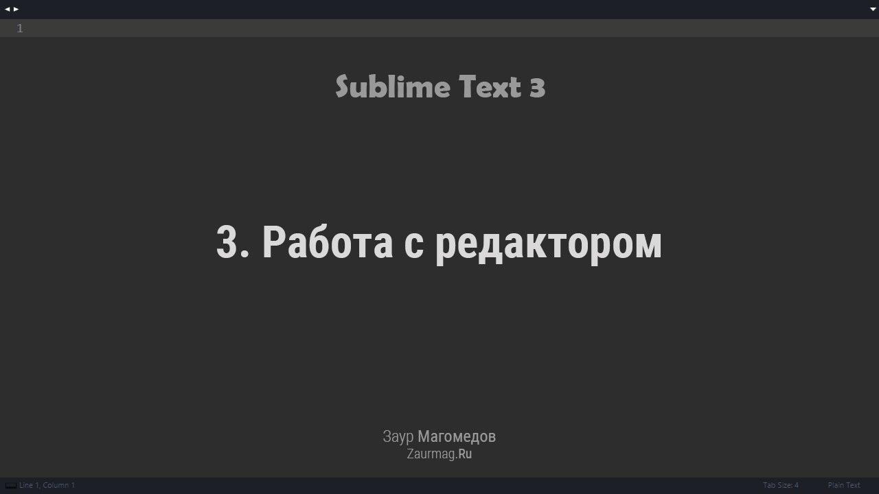 03. Работа с редактор Sublime Text 3