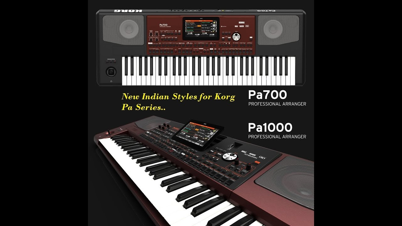 New Korg Indian Styles Korg Pa 700 & Pa 1000 Indian Styles HD by