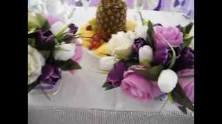Оформление свадьбы в сиреневом цвете, Ажур-Стиль, Минск