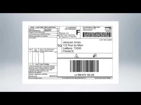 Stamps.com Online - How To Ship An International Package