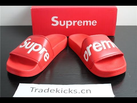 2d0ce7e9dc01 SUPREME FLIP FLOP RED UNISEX RED Unboxing Reviews From tradekickss ...