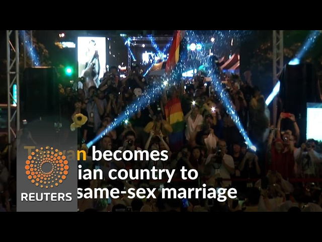 Taiwan celebrates same-sex marriage ruling