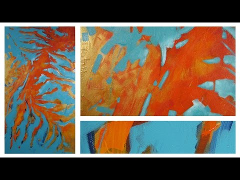 Art Lesson : Abstract Expression Brush Painting