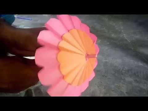 How to make a paper umbrella,,,,easy paper art umbrella