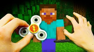 REALISTIC MINECRAFT - how to make A FIDGET SPINNER!