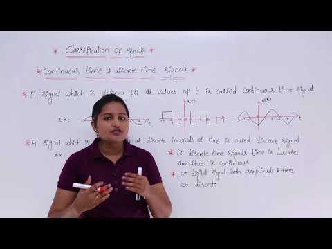 Continuous Time & Discrete Time Signals