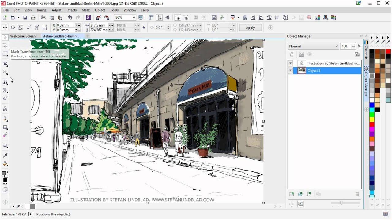 Corel Photo Paint X Remove Background