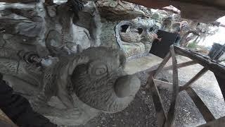скульптура  из  бетона  .  техно  собака.  обзор  работы  скульптуры  динозавра..