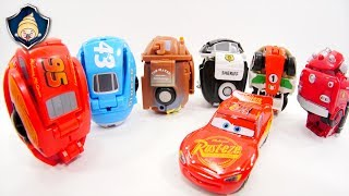 Disney Cars Toys Lightning McQueen & Mater Transformation EGG STARS Stop motion movie for Kids thumbnail