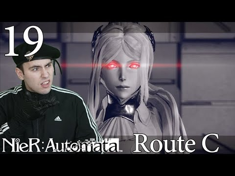 Route C Opening Reaction | Let's Play Nier Automata BLIND Playthrough -19- Walkthrough Gameplay