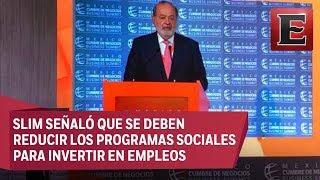 Análisis del mensaje de Carlos Slim en la Cumbre de Negocios