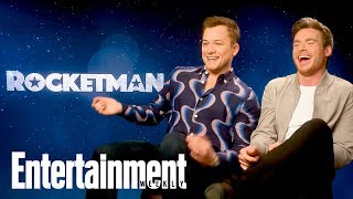 Taron Egerton & BFF Richard Madden On 'Rocketman', First Meeting & More | Entertainment Weekly Video