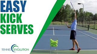 TENNIS SERVE | How To Hit A Kick Serve Easily