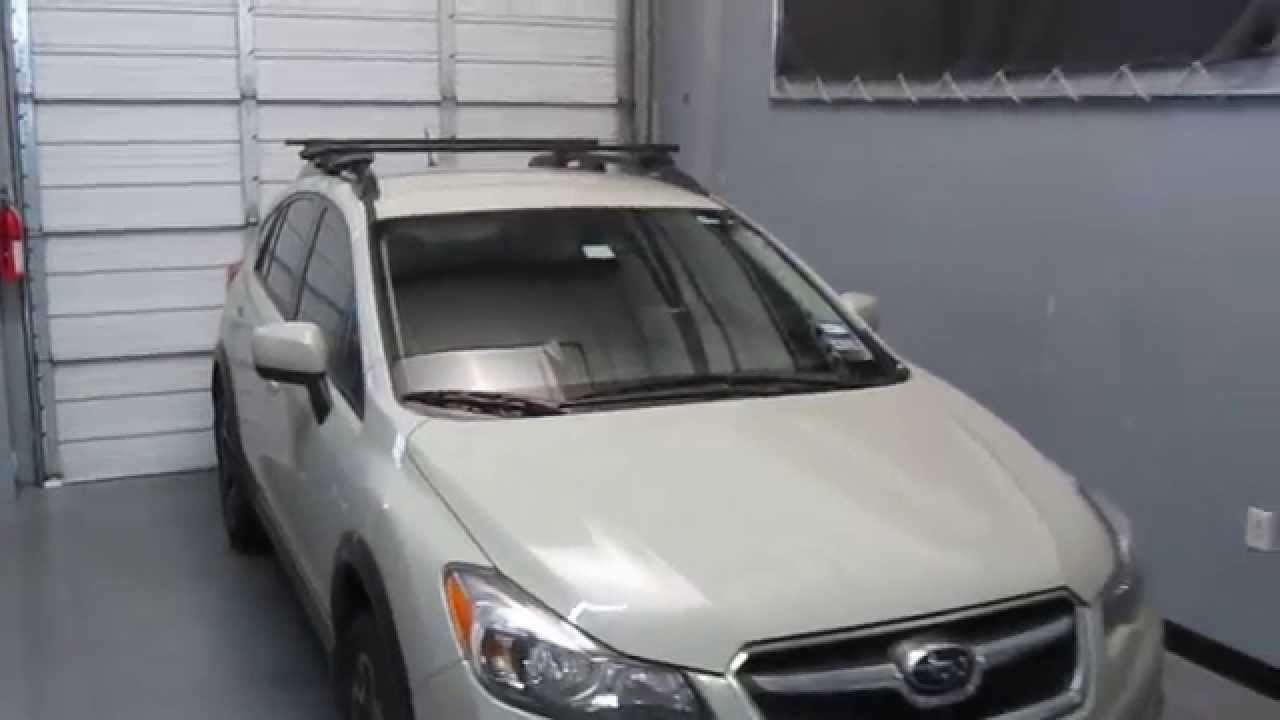 Subaru Xv Crosstrek Thule Crossroad Square Bar Roof Rack 13 14 By Rack Outfitters Youtube