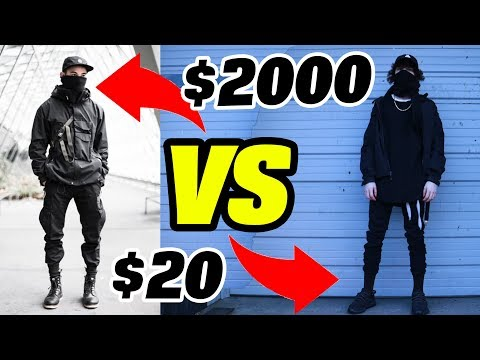 $2000 vs $20 Techwear Outfit Thrift Store Challenge DIY