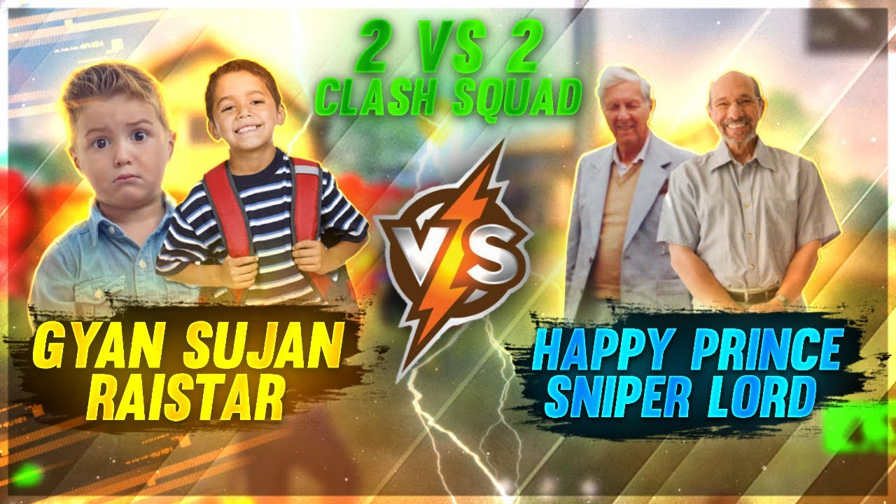 8 Years👬 Boy Vs 75 Years👴🏻 Old Men   Raistar Duo VS Sniperlord Duo   Garena Free Fire