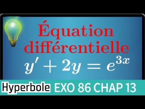 Résoudre l'équation différentielle