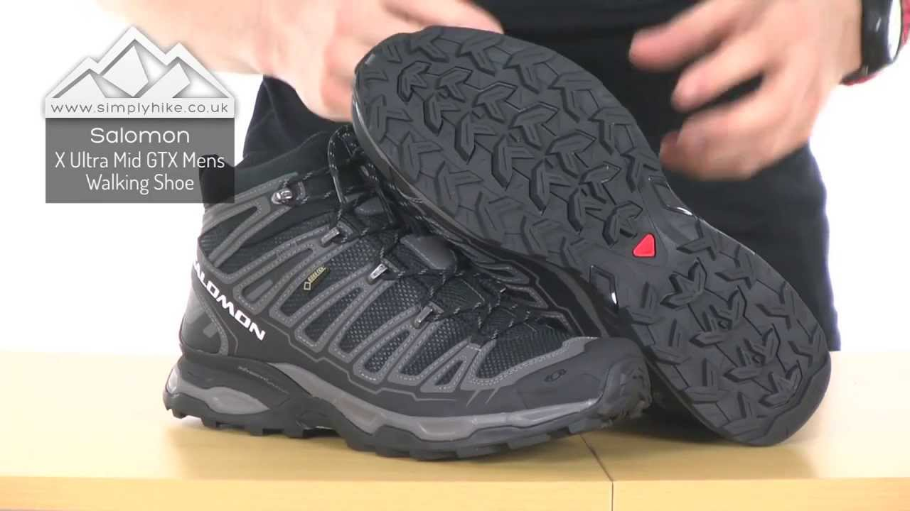 30cfc2f3bb3 Salomon X Ultra Mid GTX Mens Walking Shoe - www.simplyhike.co.uk - YouTube