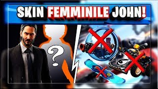 DISCOVERING JOHN WICK WOMEN'S SKIN! ADDIO TO ALL VEHICLES! (SEASON 9 FORTNITE)