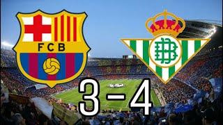 FC Barcelona 3-4 Real Betis Balompié| La vídeo reacción más loca😍💚| #Betis #Barça #LaLiga💚