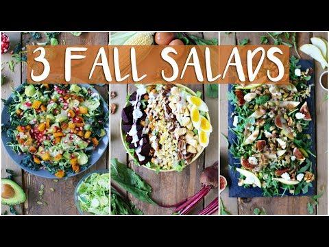 3 EASY HEALTHY FALL SALAD RECIPES | Healthy Dinner Recipes
