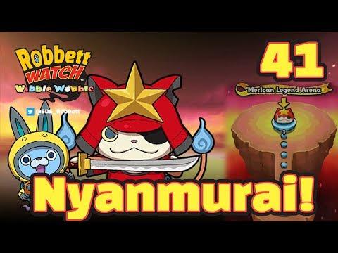 Yo-kai Watch Wibble Wobble #41: The Last Nyanmurai! Usapyon! Popcorn Scramble! Robbett Watch