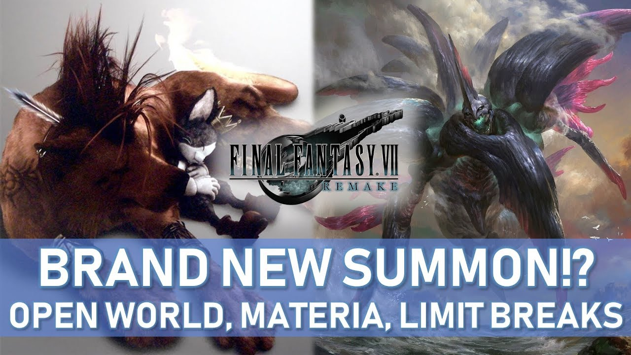 FF7 Remake HUGE LEAKS!? NEW SUMMON, Open World, Materia System, Limit  Breaks, Red XIII AND MORE