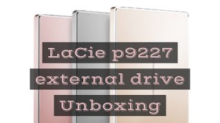 LaCie 2TB P9227 USB C Hard Drive for MacBook Pro - hands on | Unboxing