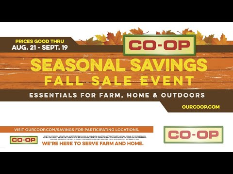 Co-op Minute: Fall Sales Event 2020