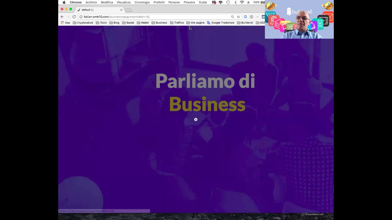 Webinar Builderall Business 28 marzo. Builderall Italia. Builderall in Italiano.