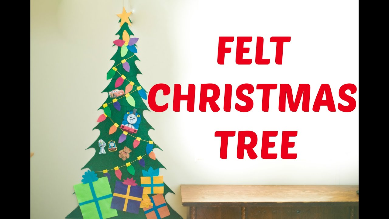 Make Your Own Felt Christmas Tree! - YouTube