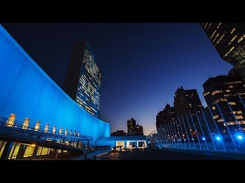 United Nations celebrates 70 years in blue