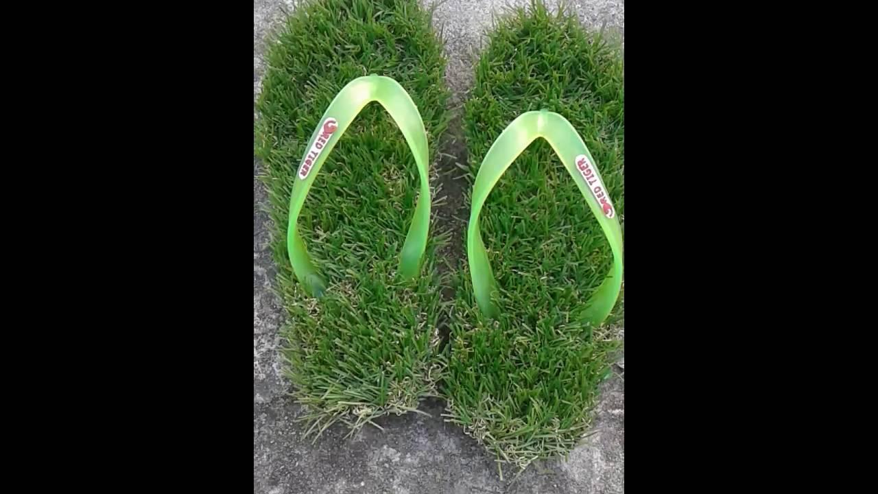 28e61639e14 The new grass slipper.. - YouTube