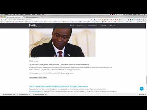 Demo of Sierra Leone Open Elections Data Platform Part 1