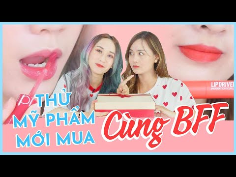 TESTING JUICY LASTING TINT + LIPDRIVER   UNBOXING ROM&ND COSMETICS WITH BFF   HƯƠNG WITCH
