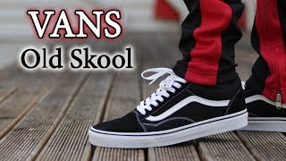 Vans Old Skool (Black & White) Close Up + On-Feet with Different Pants