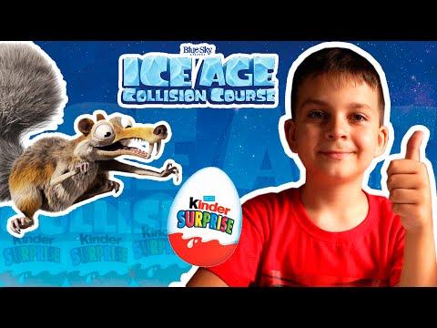КИНДЕР СЮРПРИЗ Ледниковый Период Столкновение Неизбежно  KINDER SURPRISE Ice Age 5 Collision Course