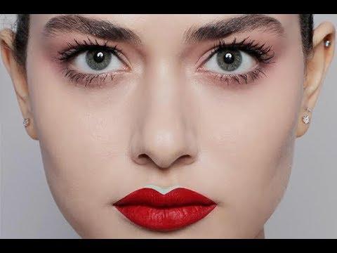 Как красиво накрасить губы красной помадой пошаговое фото