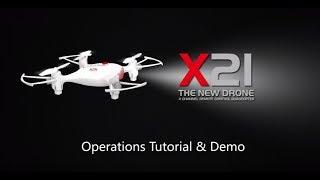 SYMA X21W  FPV Real-Time Operation Tutorial