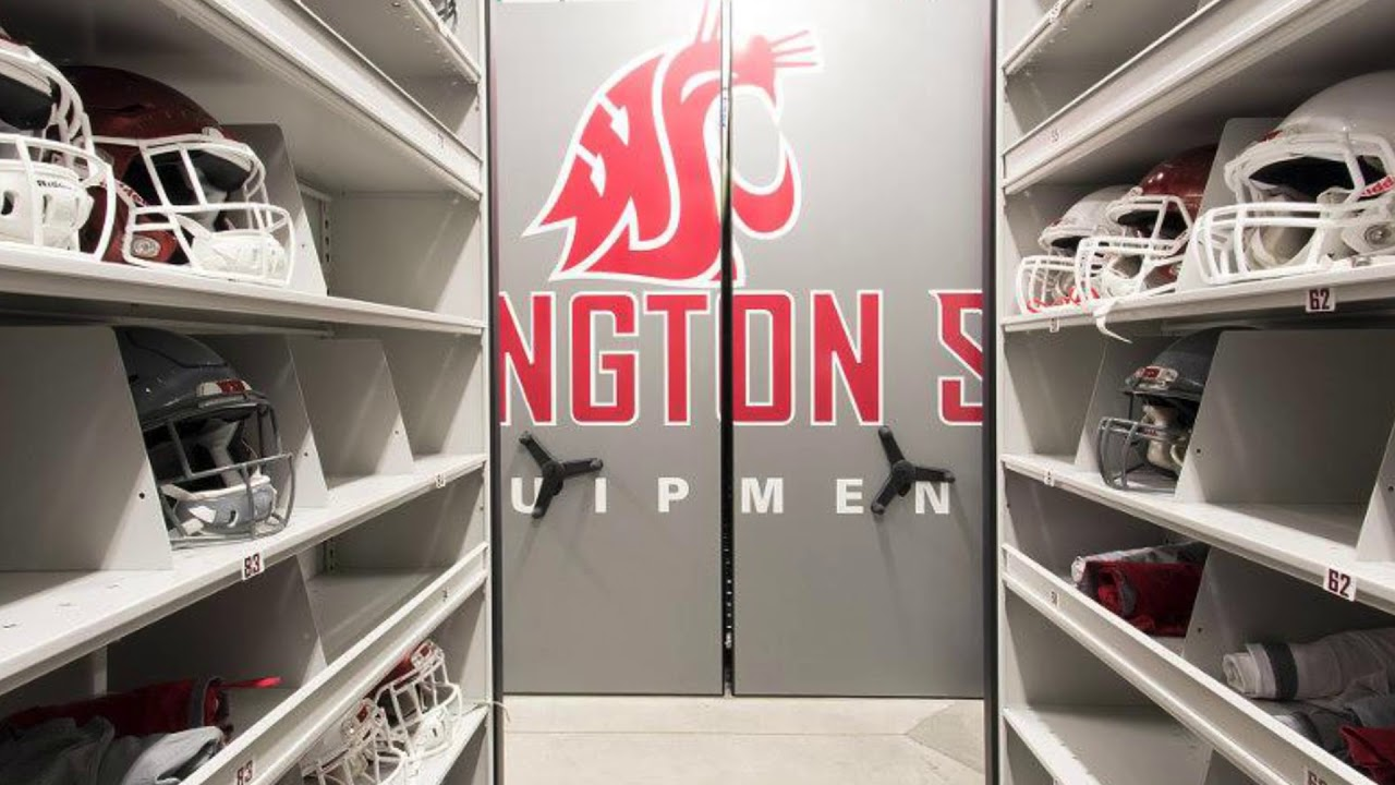 Athletic Storage Shelving | Spacesaver | Midwest Storage Solutions, Inc.