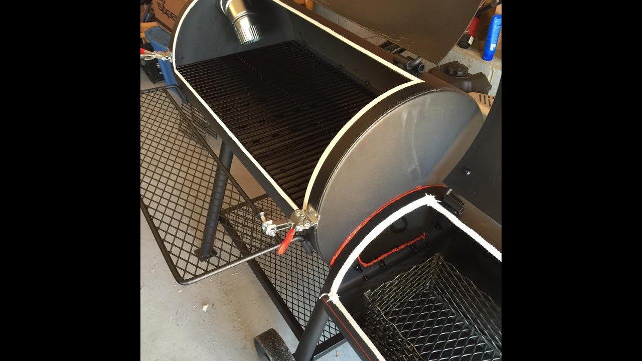 Oklahoma Joe's Highland Smoker Tuner Plate Modifications