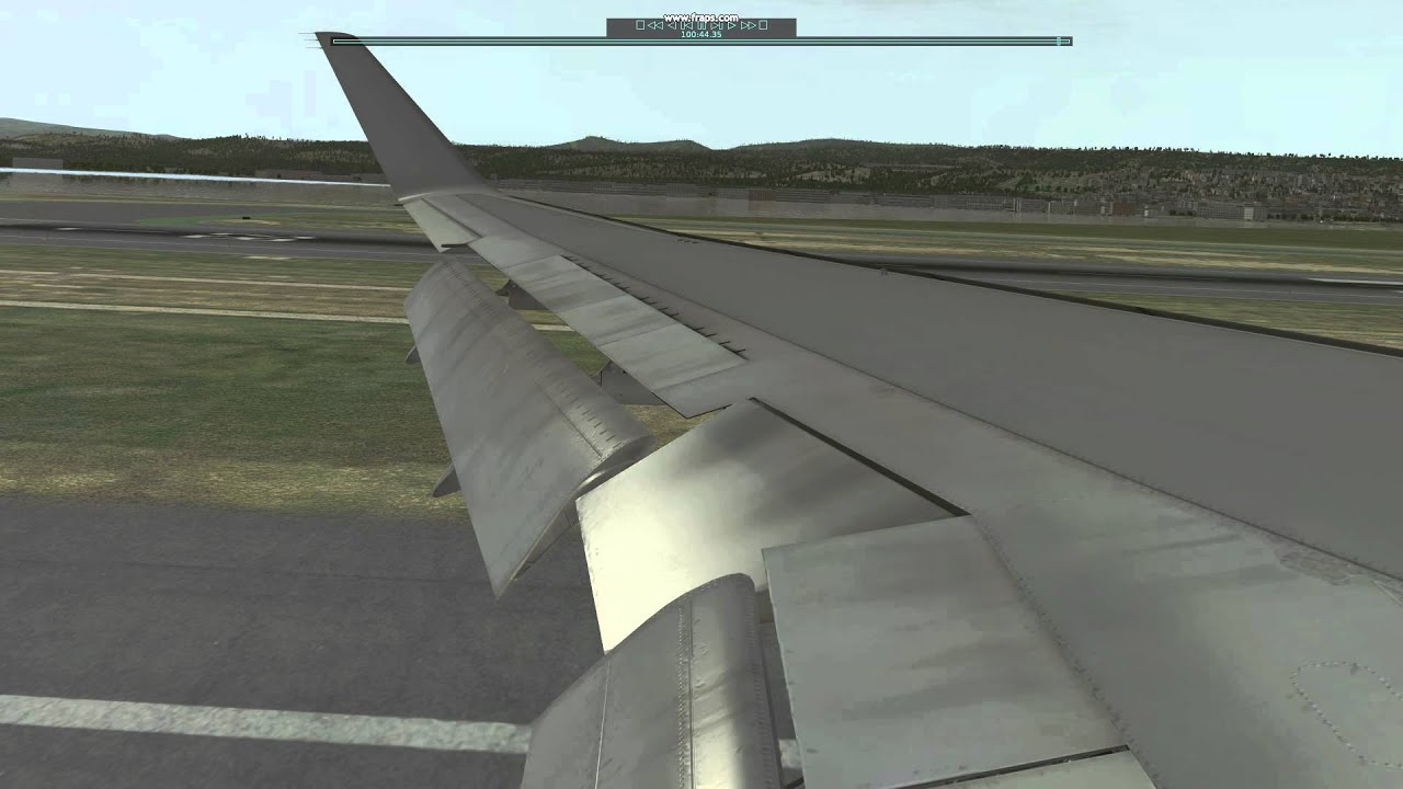 FlightFactor 767-300ER Wing Loading/Wingflex on landing Demo [clip]
