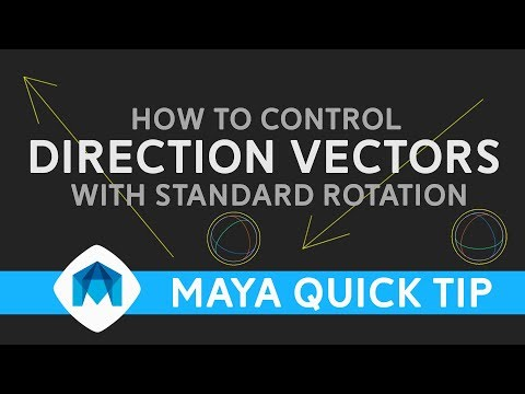 Control direction vectors with euler rotation