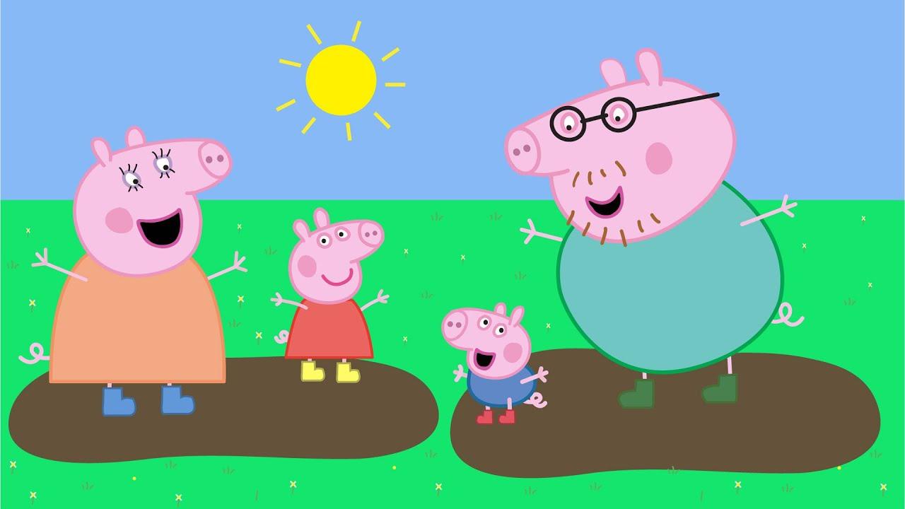 СВИНКА ПЕППА Какие бывают лужи Раскраска Peppa Pig - YouTube