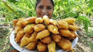 Mirapakaya Bajji Recipe- How To Make Stuffed Mirchi Bajji Andhra Style For Preschool Kids- Sea Foods