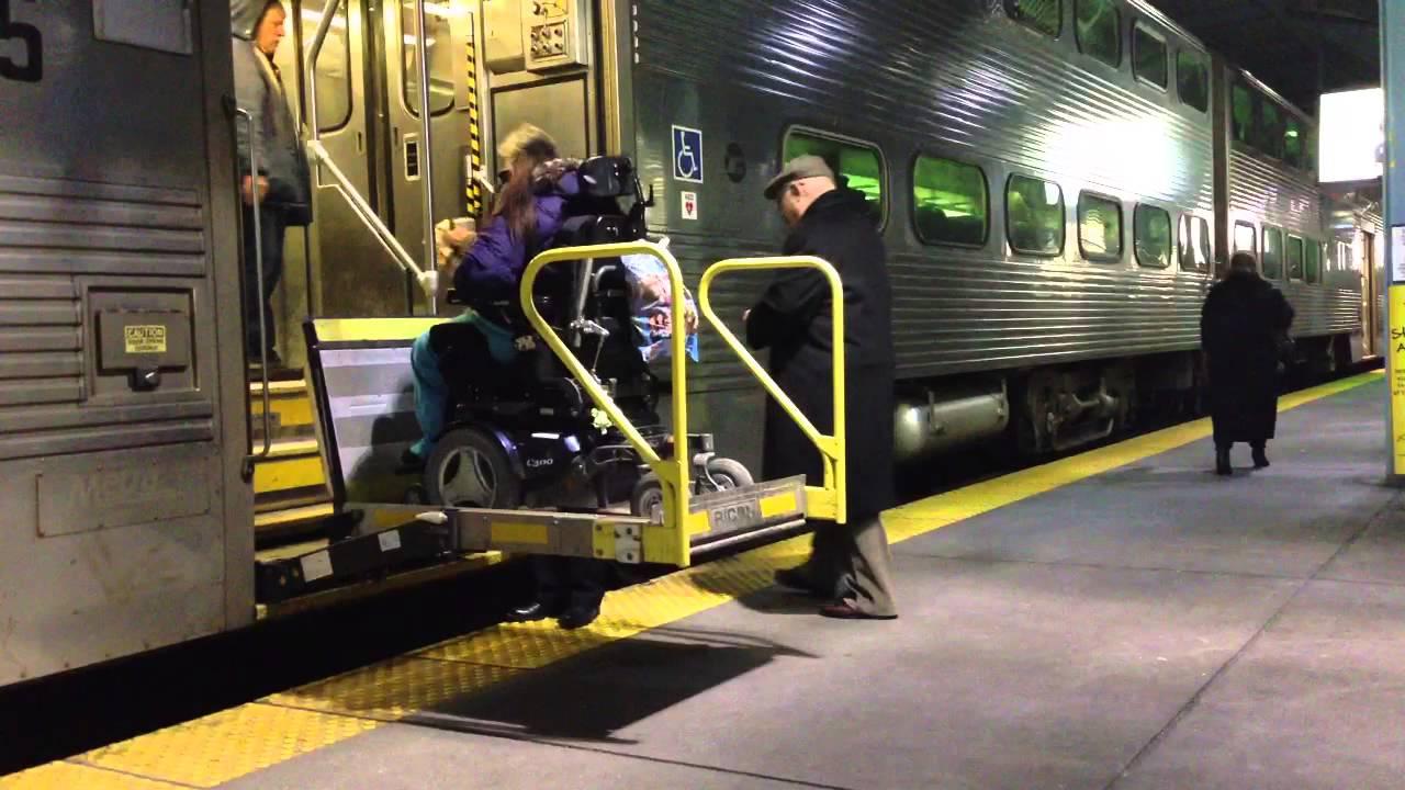 Chicago Metra Handicap Accessible Youtube
