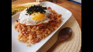 Корейская кухня: кимчи поккымбап (김치 볶음밥) или жареный рис с кимчи
