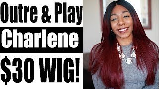 AFFORDABLE EBONYLINE WIGS OUTRE & PLAY LACE WIG - CHARLENE (UNDER $30)