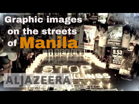 Graphic images on the streets of Manila - The Listening Post (Lead)